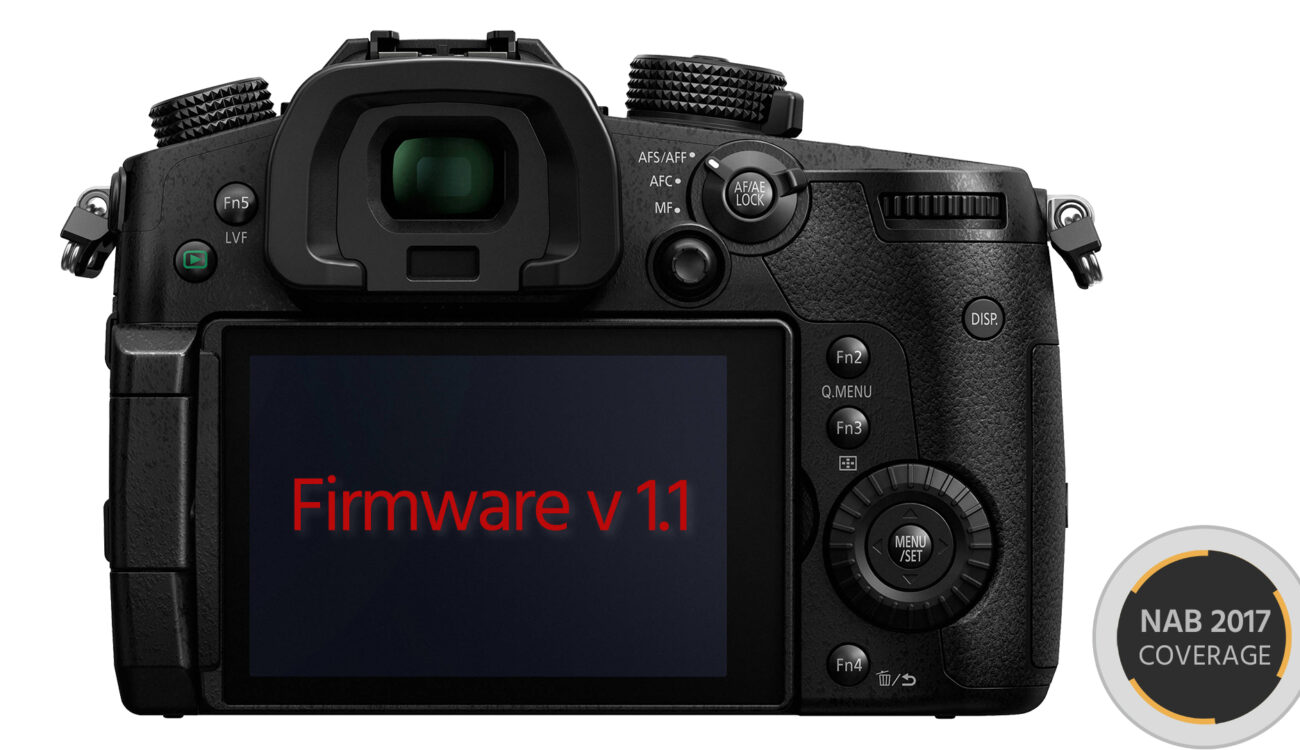 Firmware v1.1 for Panasonic GH5 Enables 10-Bit 4:2:2 FullHD Video