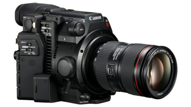 Canon EOS C200 with lens