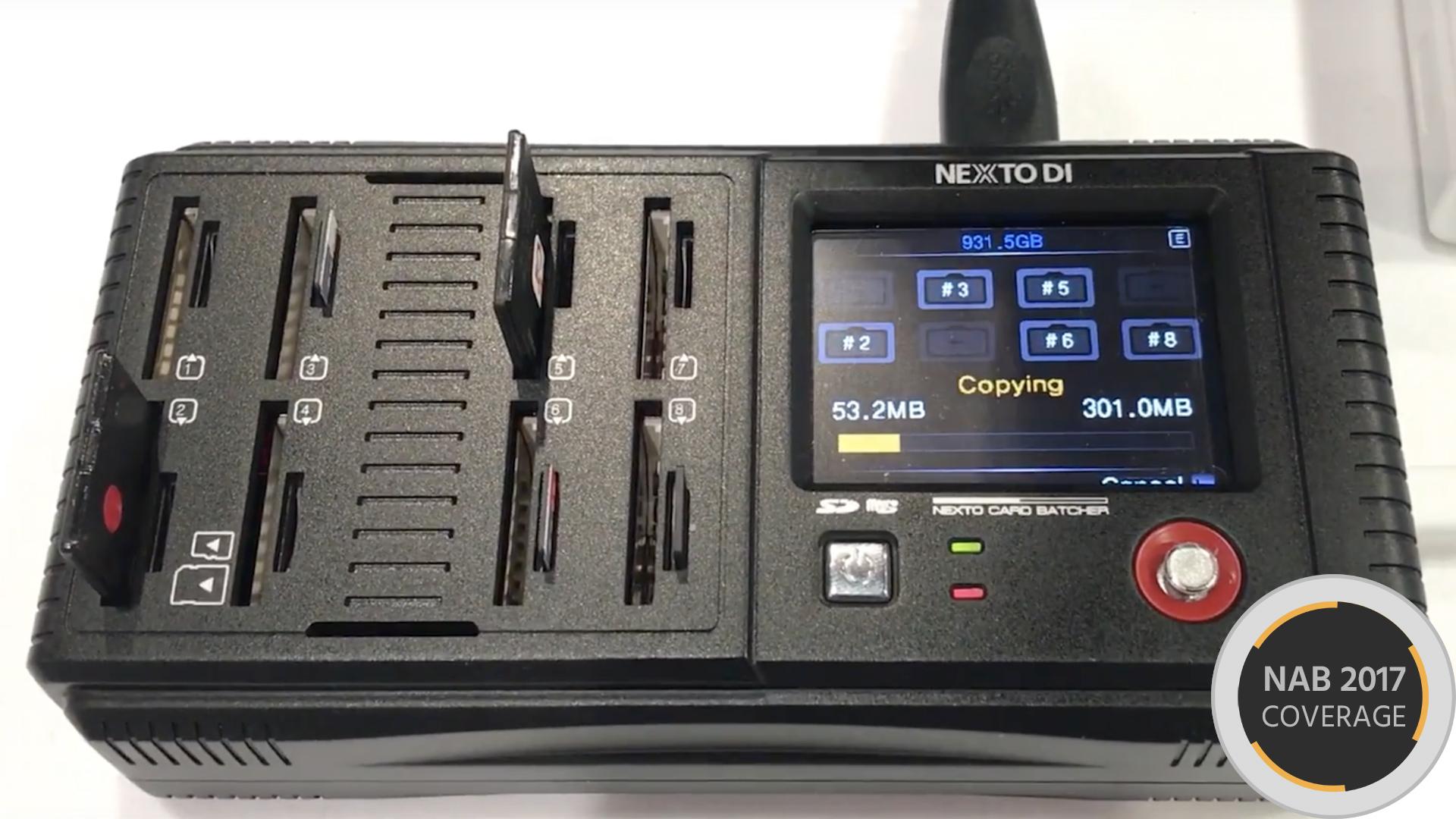 NEXTOがNCB-20 Card Batcherを発表 ➖ 各種メディアに対応するバックアップストレージ