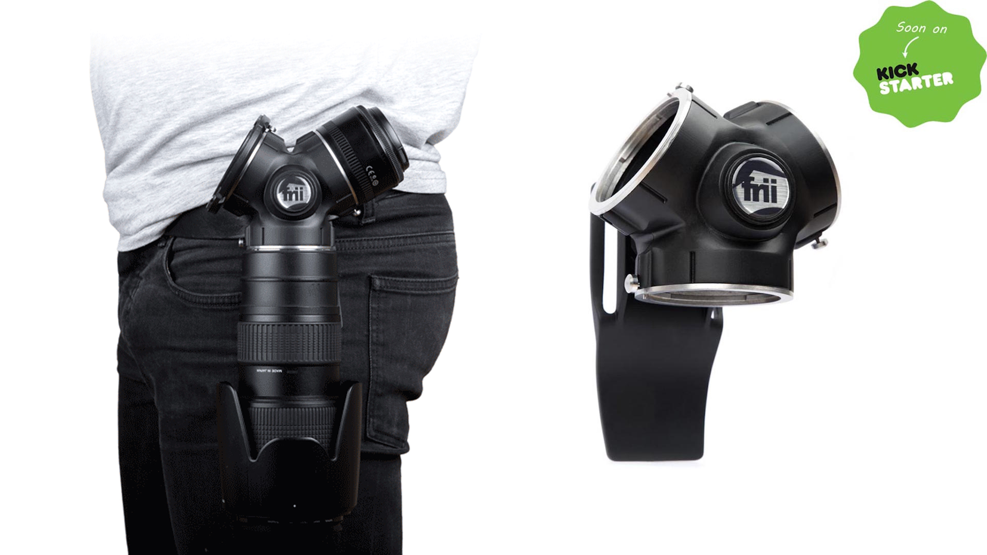 Frii DesignsのTriLens Holder - レンズ交換が素早くできるホルダー
