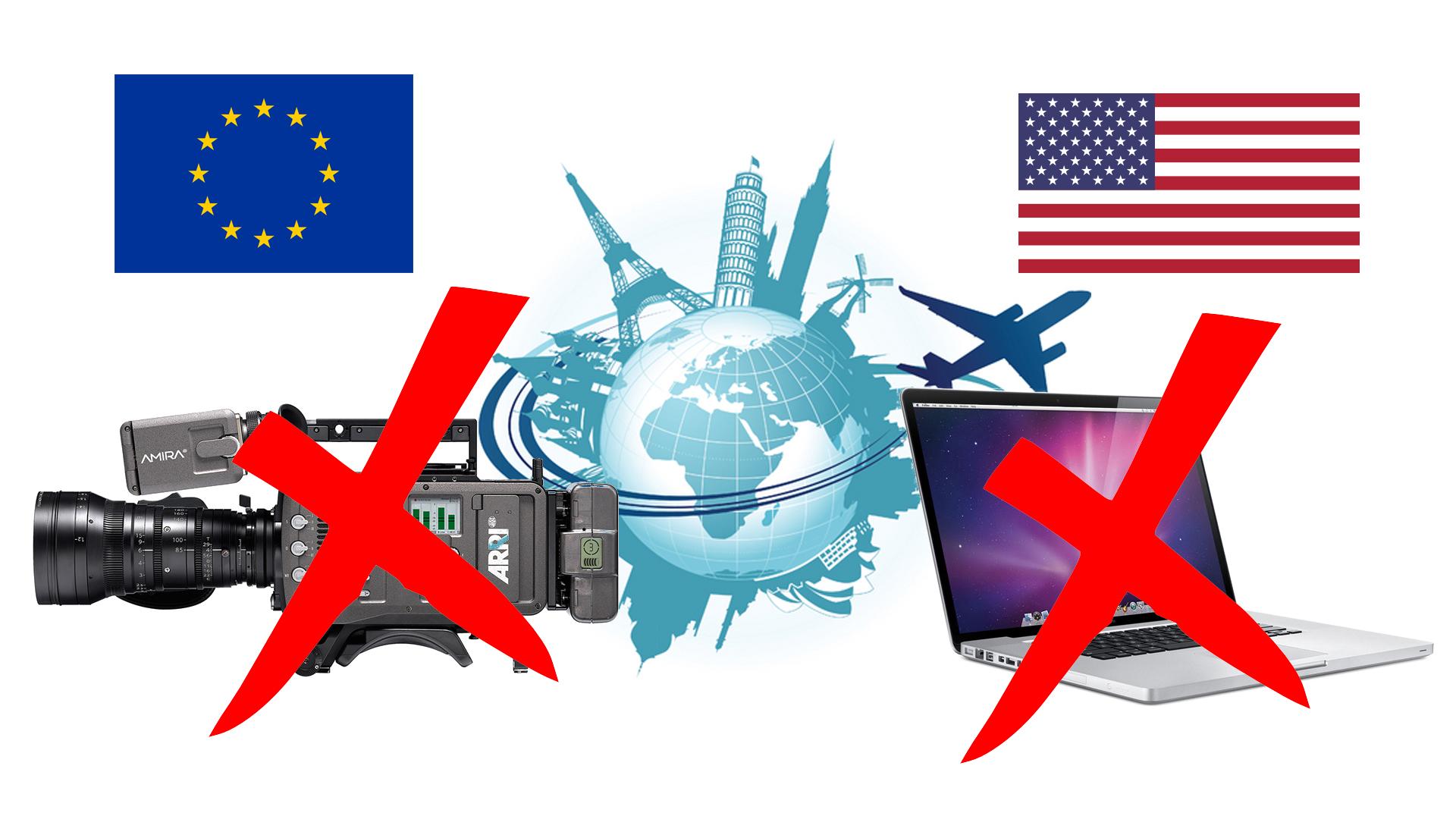 米国が電子機器の機内持ち込みを欧州便にも拡大