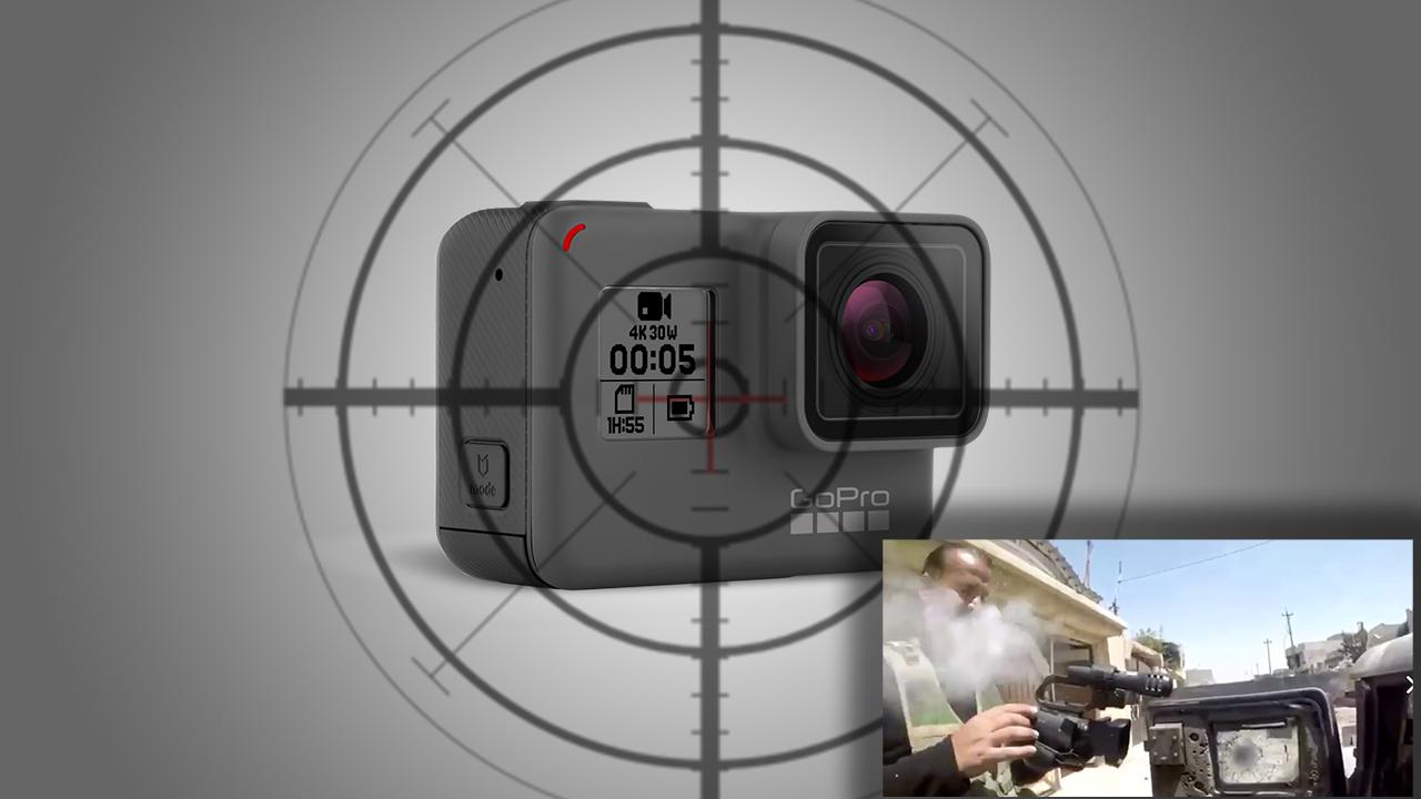 GoProがスナイパーの狙撃からカメラマンを救った!