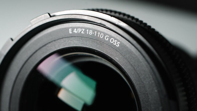 Sony 18-110mm Review - F/4 E PZ G OSS Lens Front CloseUp