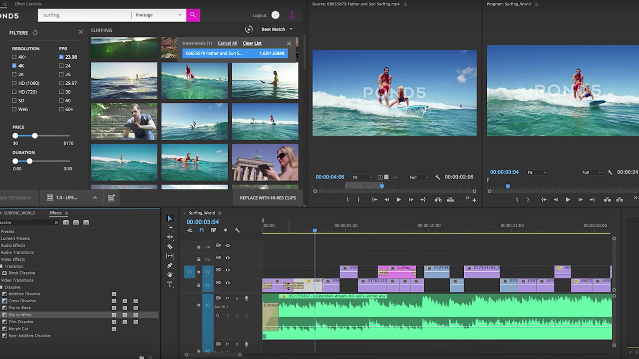 New Pond5 Add-On for Adobe Premiere - Stock Material Right ...