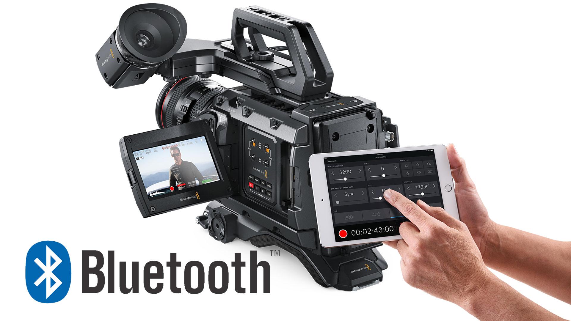 ブラックマジックデザインがFirmware4.4アップデートでBluetoothカメラコントロールをサポート