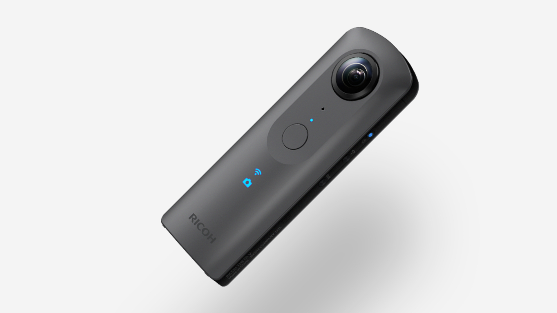 リコーのTheta V - UHD4Kで360°映像を撮影可能