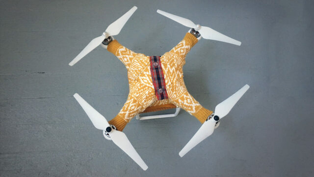 This Drone Sweater Will Keep Your Drone Warm and Huggable