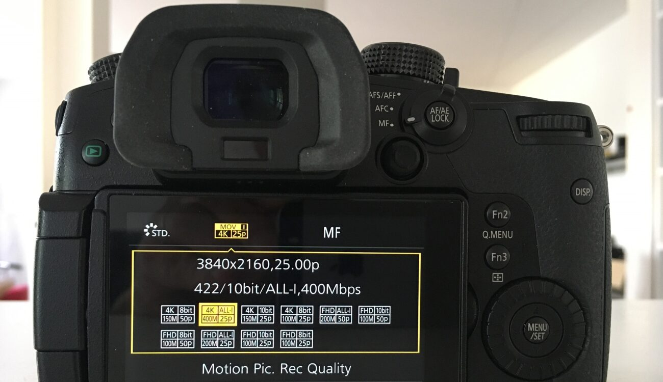 Panasonic GH5 Firmware Update 2.0 Released - 400Mbps ALL-I, 6K 4:3 Anamorphic and more