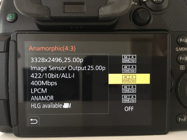 Panasonic GH5 firmware update