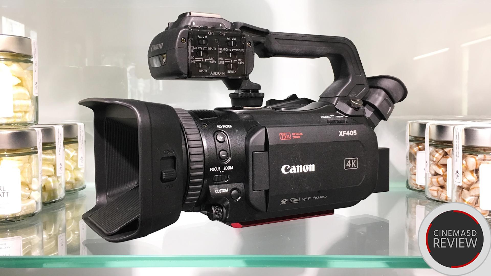 キヤノンXF405レビュー - 1インチセンサー搭載の4K対応ハンディ―ビデオカメラ