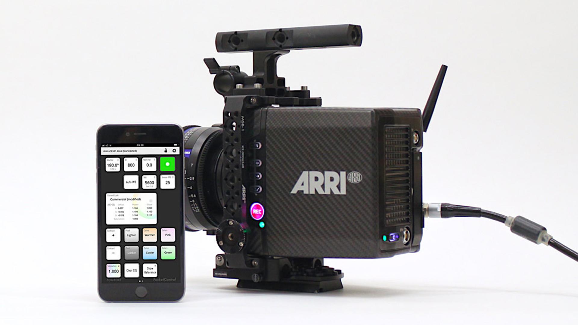 PomfortがARRI ALEXA MiniとAMIRA用リモートアプリを発表