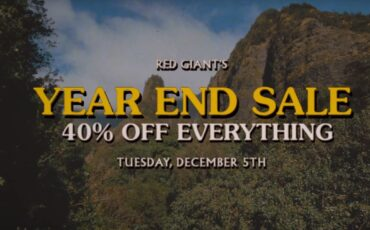 Red Giant Annual Sale - 40% Off Everything for only 24 Hours!