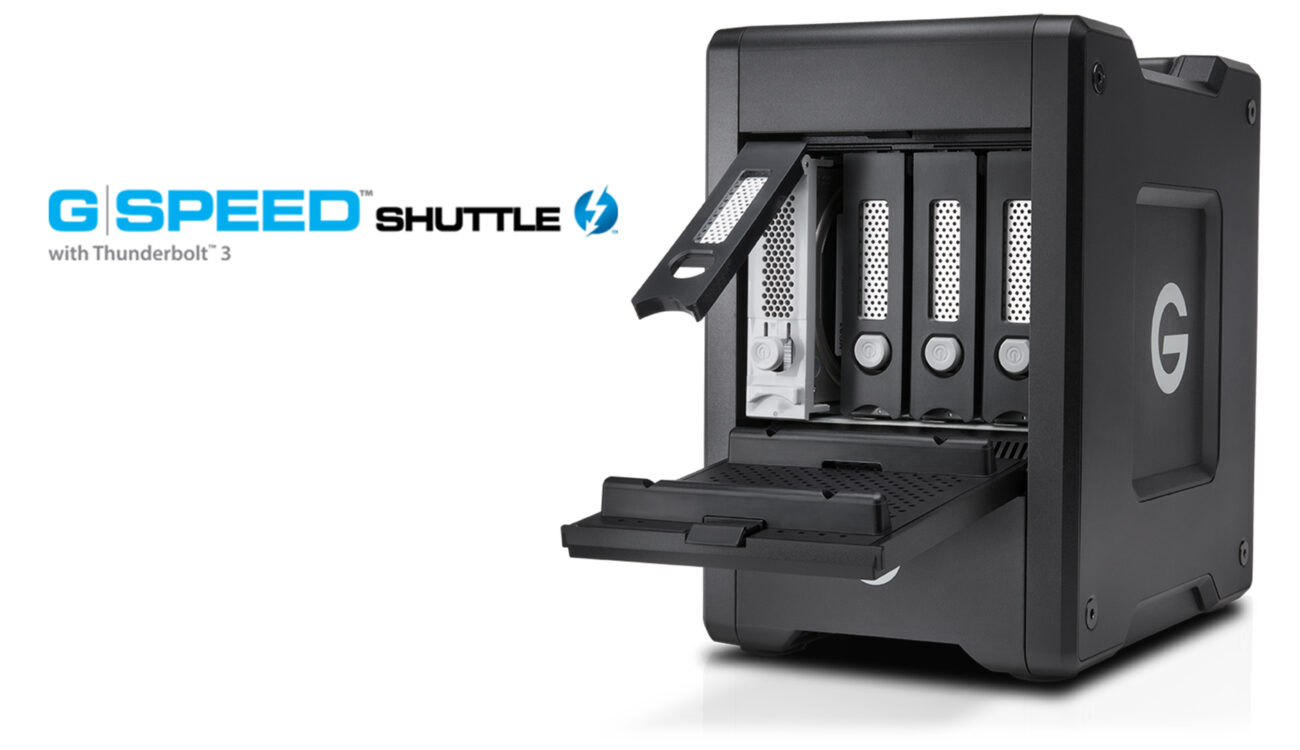 New G-Speed Shuttle With Thunderbolt 3 and EV Series Bay Adapters