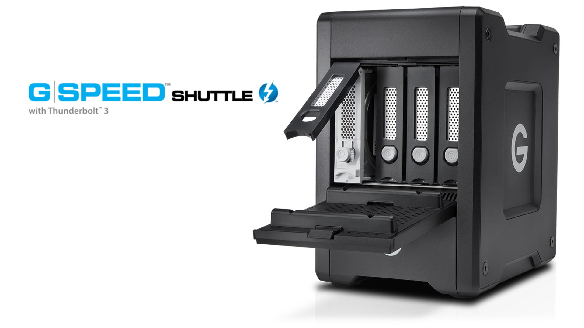 G-TechnologyのG-Speed Shuttle - RAID、SSD、メディアアダプター組合せ自由な大容量ストレージ
