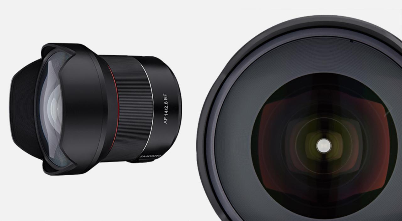 SamyangがAF 14mm EFを発表 - EFマウント用オートフォーカス対応レンズ