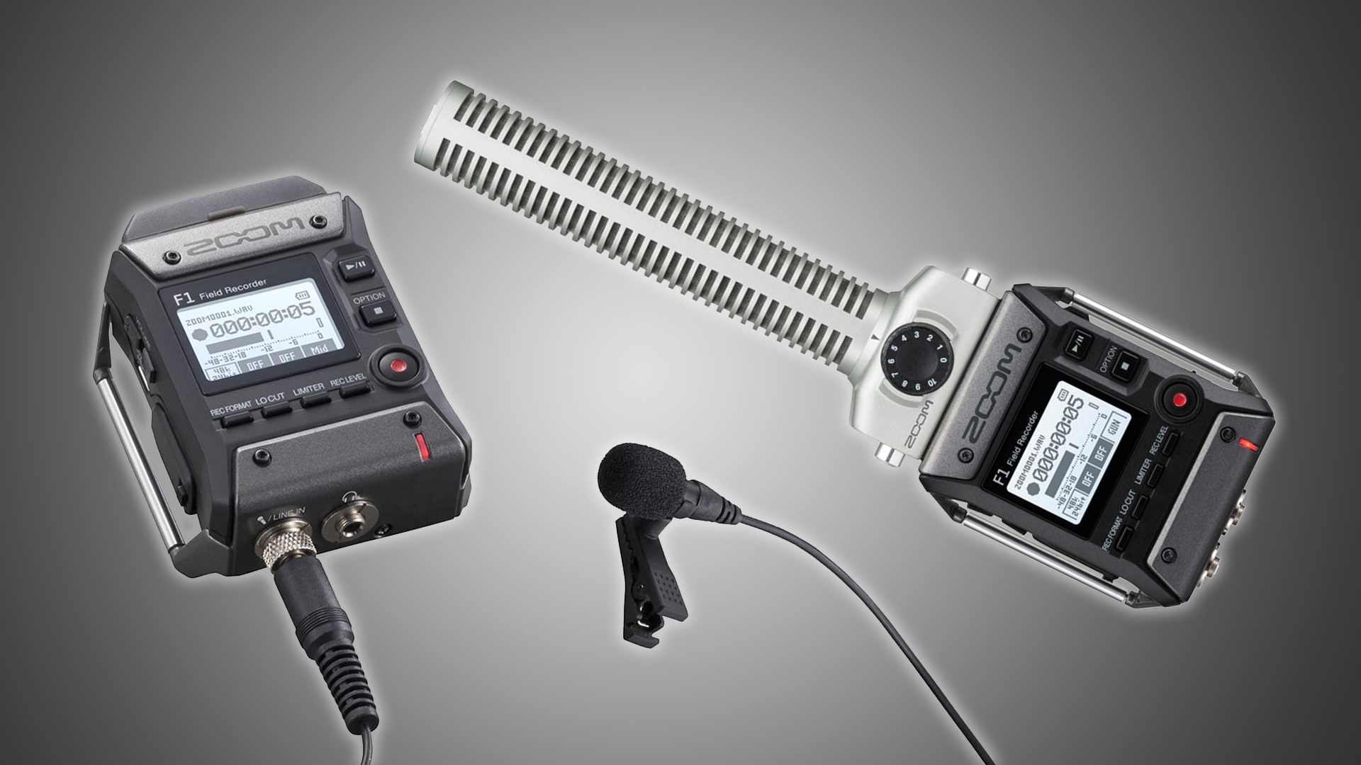 ZoomがF1を発表 - ラベリアとショットガンマイク用小型オーディオレコーダー