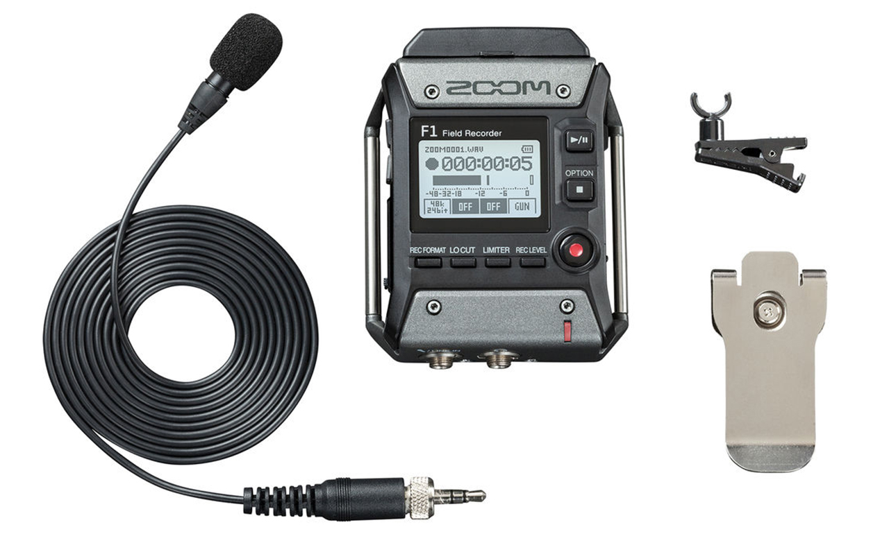 Zoom F1 Tiny Recorder For Lavaliers And Shotgun Mics