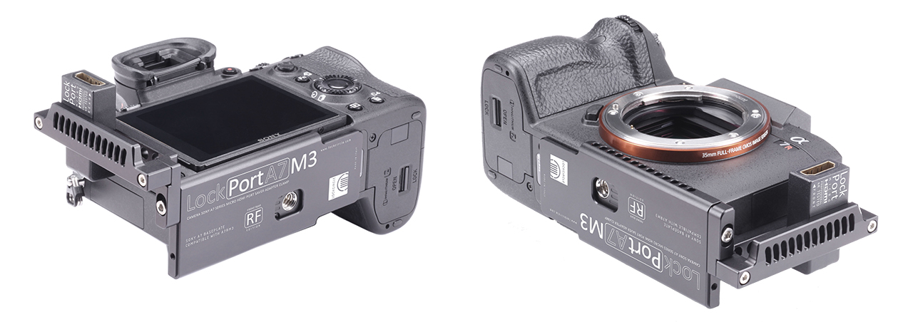 New LockPort HDMI Adapters for Sony a7R III, A9 and Nikon