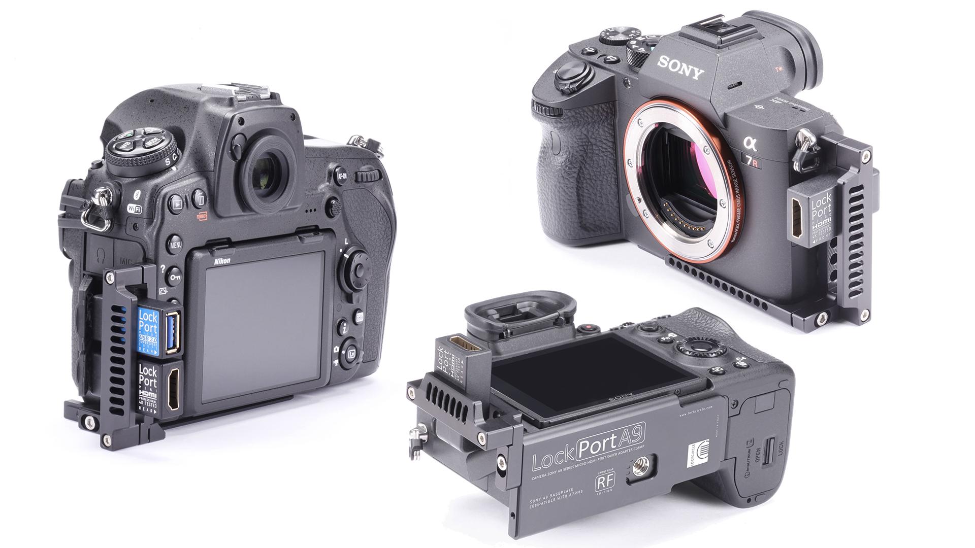 ソニーα7R III、A9、ニコンD850用LockPort HDMIアダプター