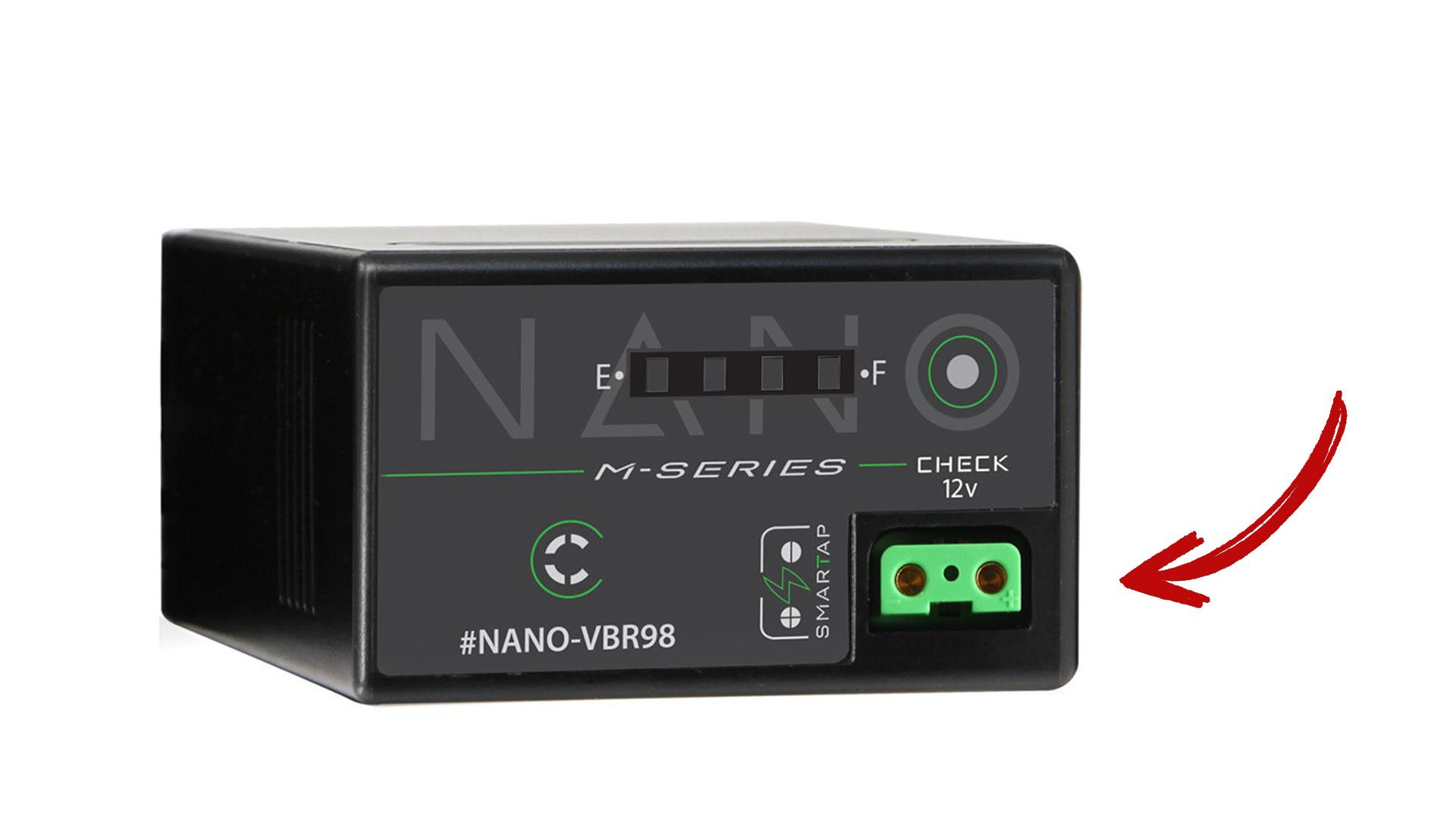 Core SWXがNano-VBR98 D-Tap付き互換バッテリーを発売 - パナソニック EVA1に対応