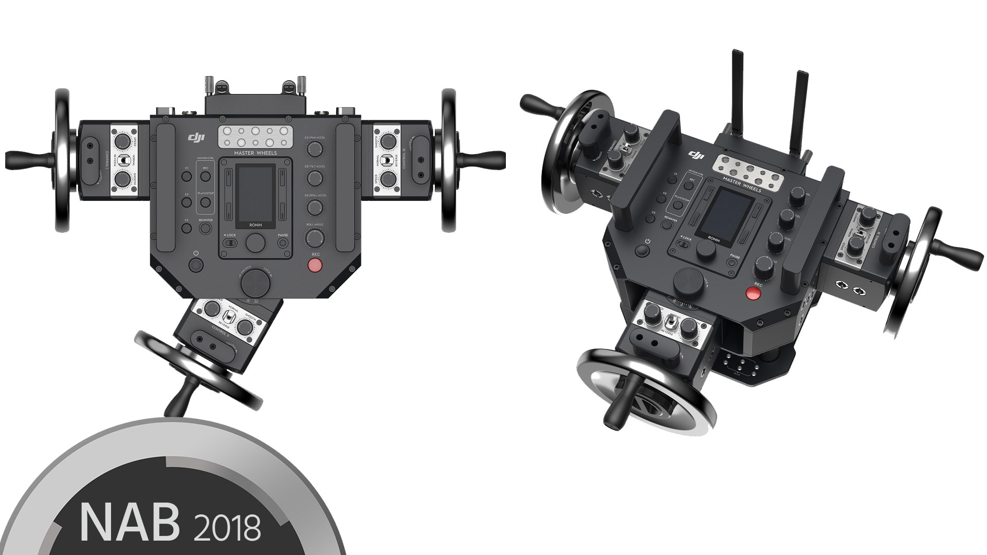 DJIがMaster WheelsとForce Proを発表 - リモートジンバルコントロール