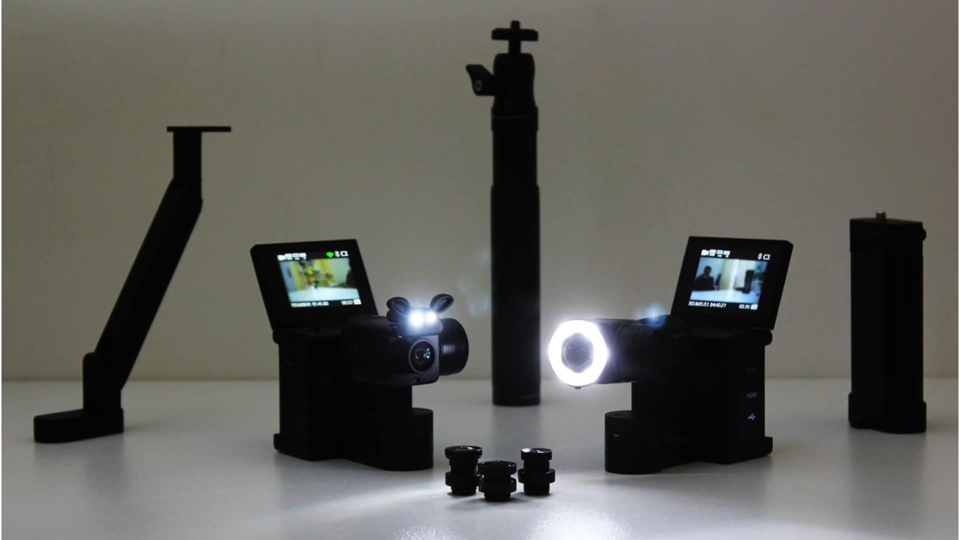 IdolcamがKickstarterに登場 - ジンバル搭載でレンズ交換できる4Kアクションカメラ