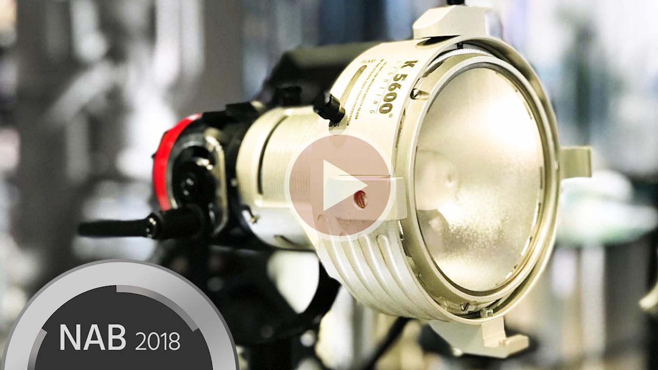 K5600 LightingがJoker2をNAB2018で展示 - ランプ交換が簡単な映画撮影用照明