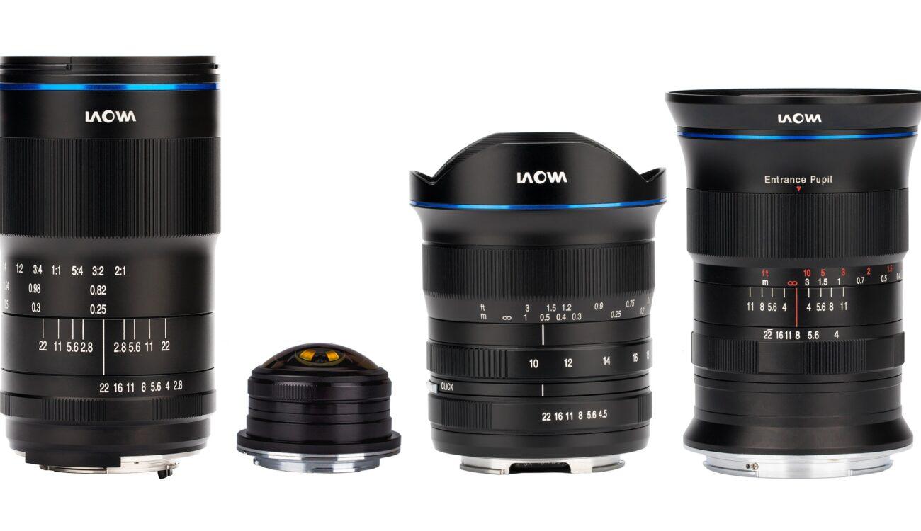 New Laowa Lenses 4mm, 17mm, 100mm Macro, 10-18mm from Venus Optics