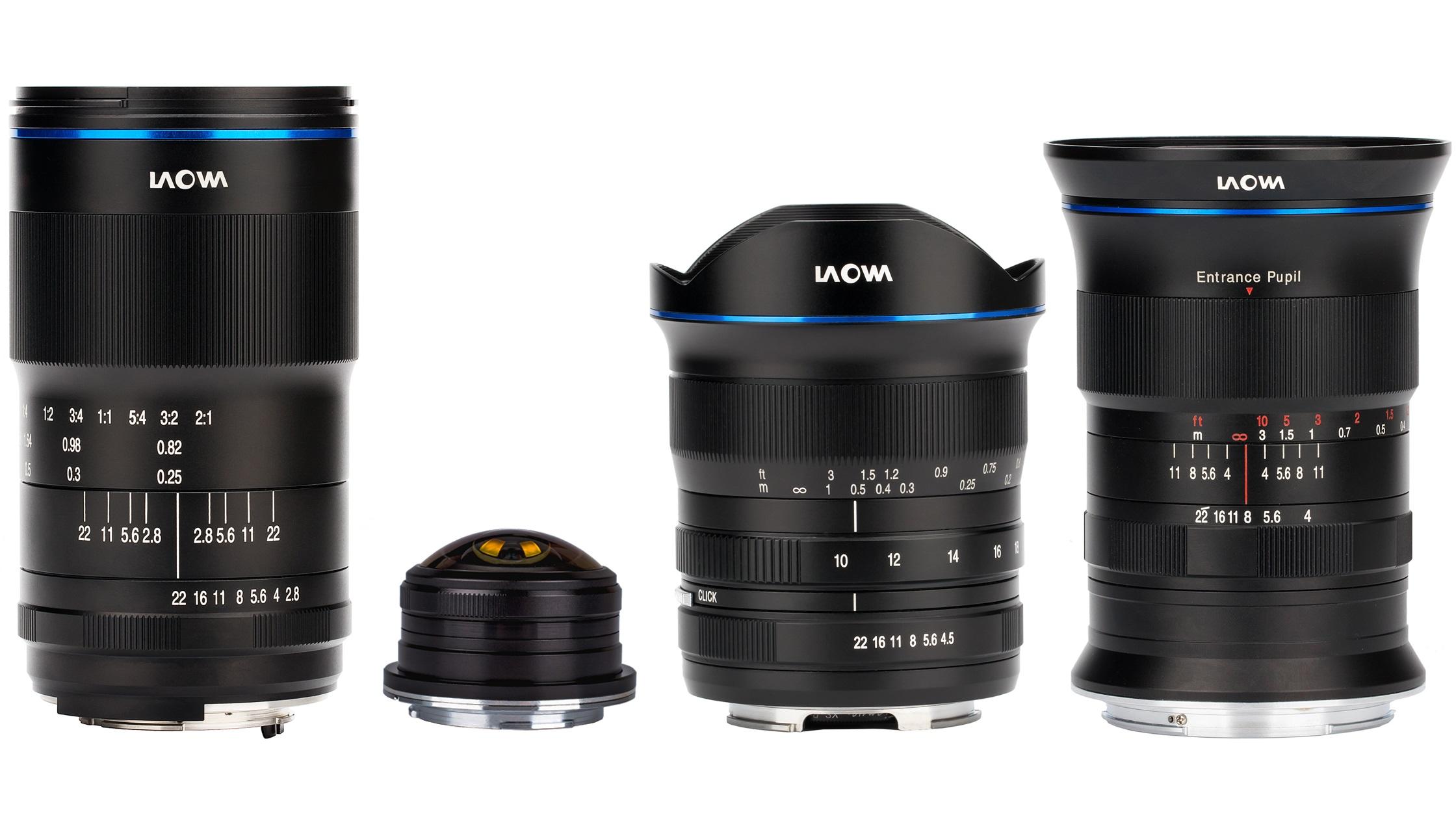Nuevas lentes Laowa 4mm, 17mm, 100mm Macro, 10-18mm de Venus Optics