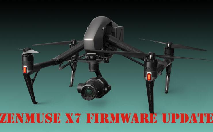 DJI Updates Zenmuse X7 Camera Supporting Apple ProRes RAW & 14-Bit