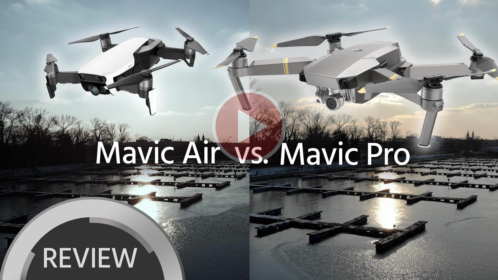 Comparación de material DJI Mavic Air vs. Mavic Pro