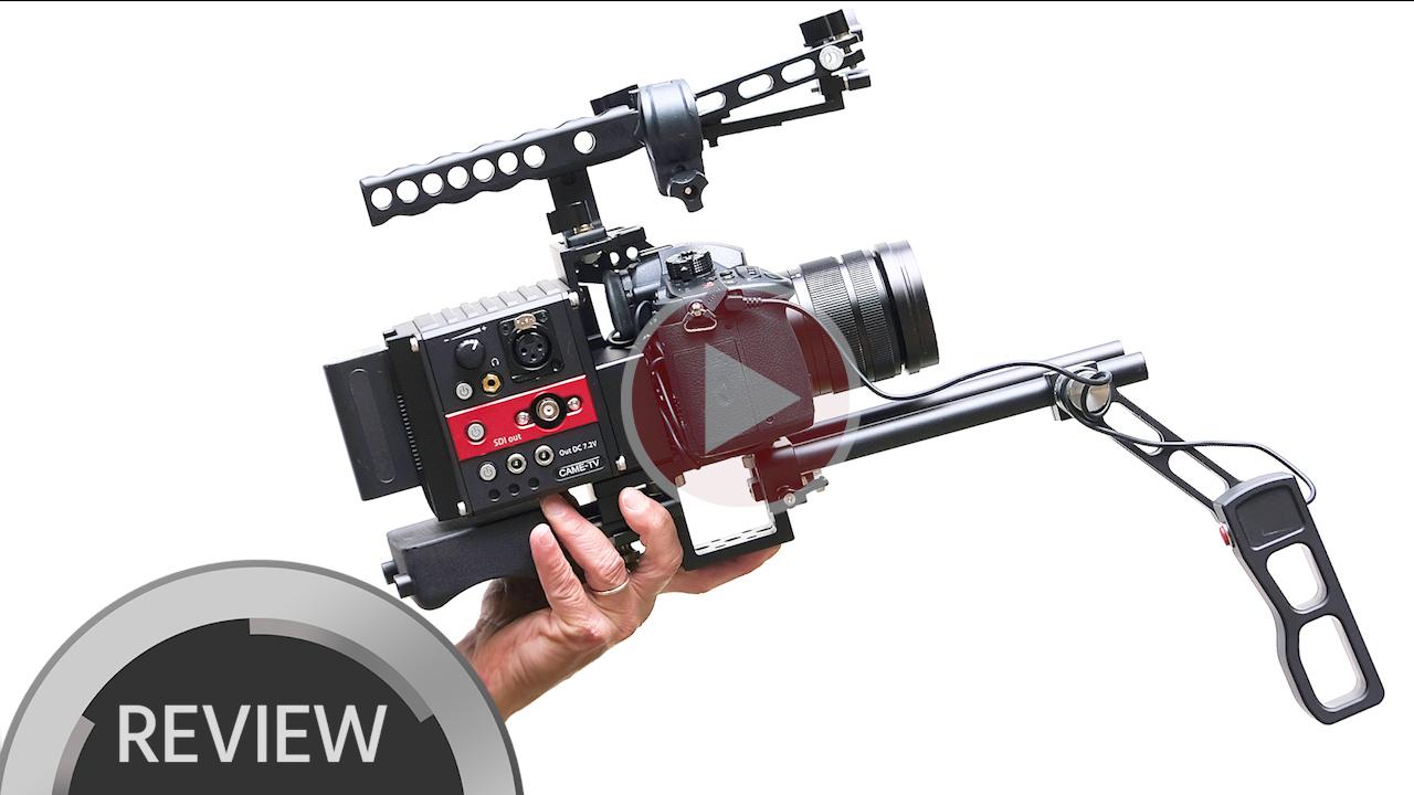 CAME-TV Terapin Rigレビュー - ミラーレスカメラをショルダーマウントに