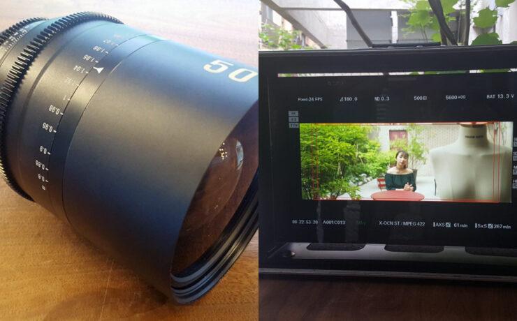 Development of Samyang Anamorphic Lenses Spotted