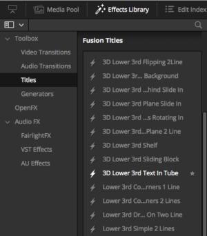 Fusion Titles