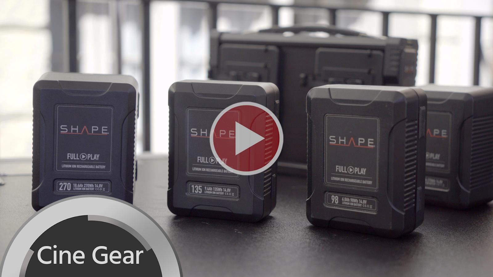 SHAPEがFull PlayバッテリーをCine Gear2018に出展