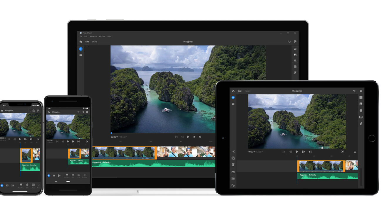 Adobe Project Rush - Desktop, iOS, Android Editing for Content Creators