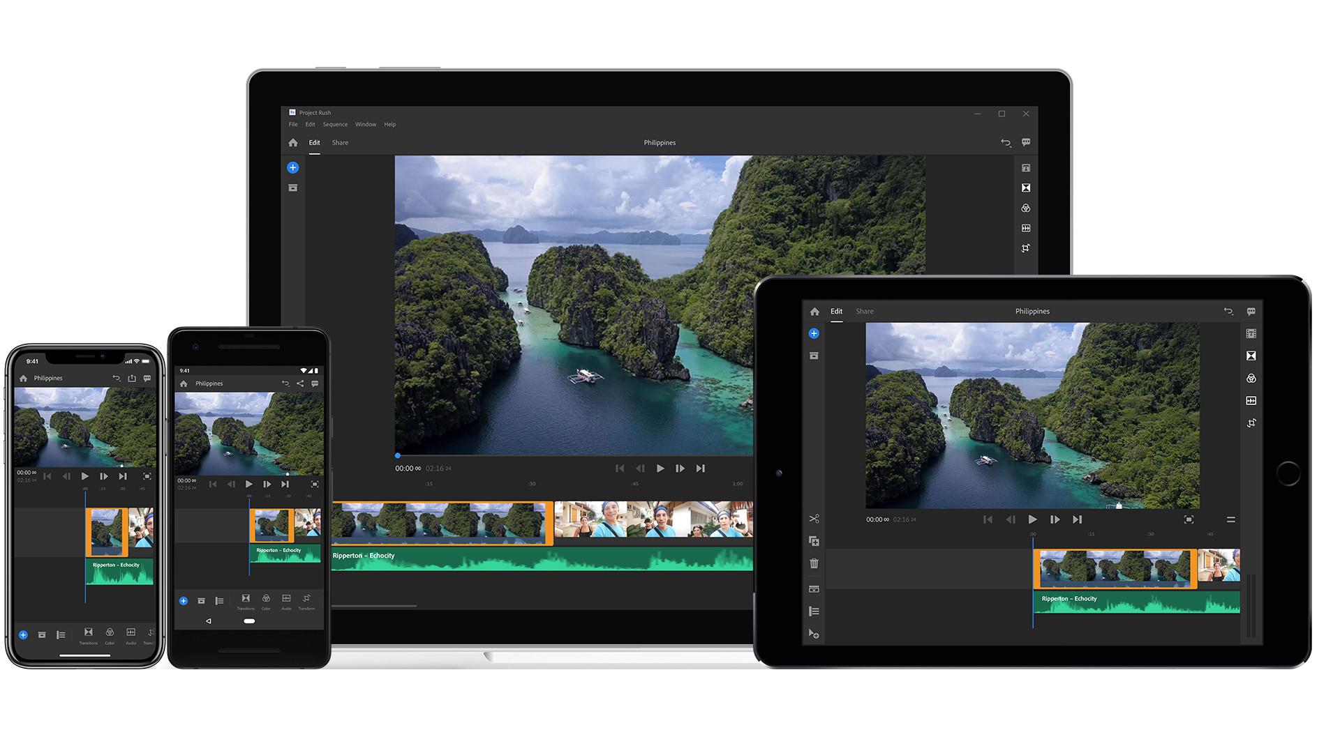 Adobe Project Rush - モバイル端末で撮影から編集、配信まで