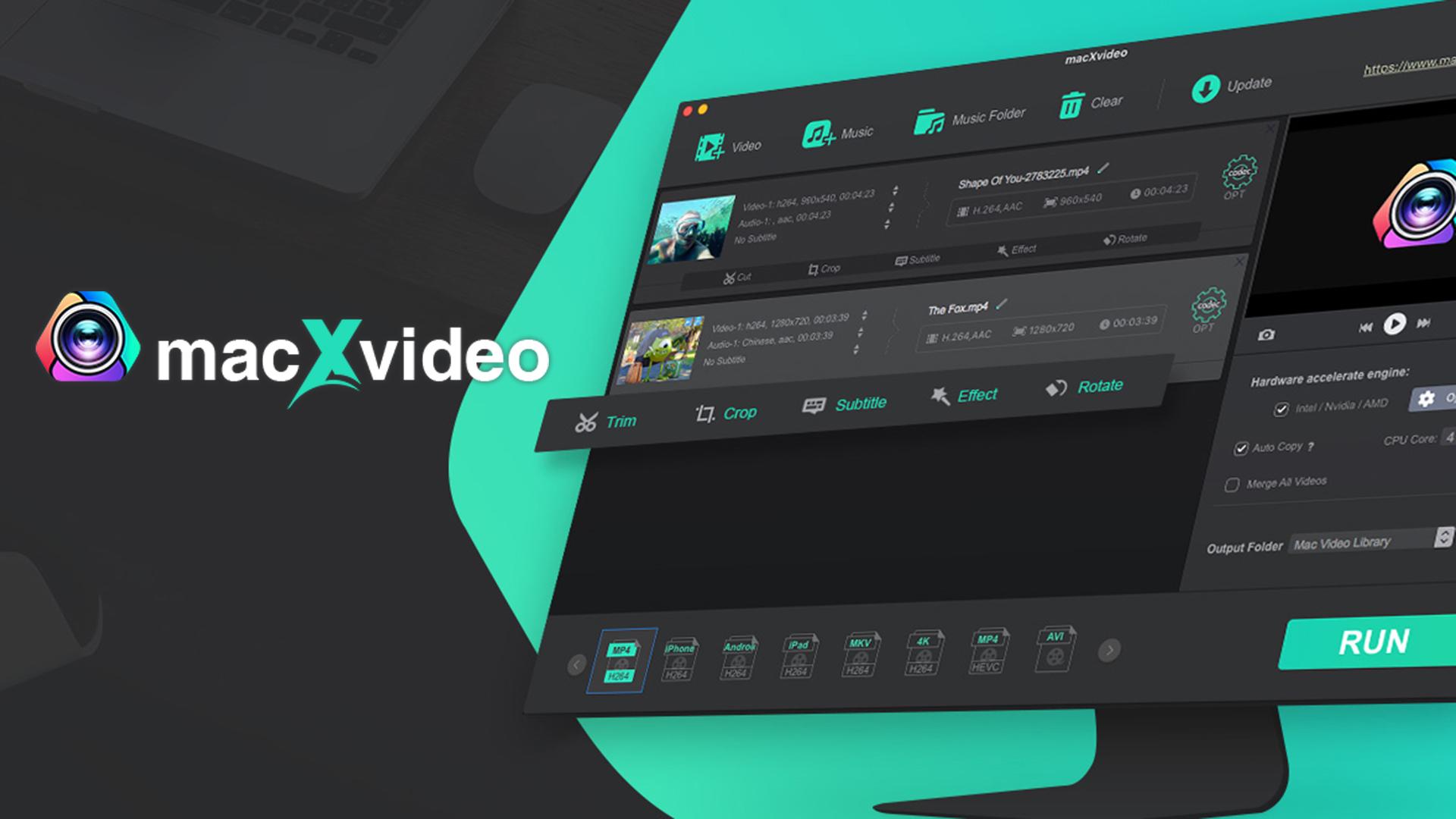 macXvideoコンバーター - 無料のビデオコンバーター