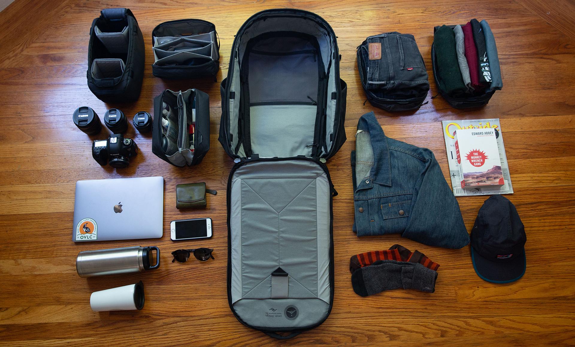 Linea de viaje Travel Line de Peak Design en Kickstarter - EL ecosistema de bolsos para viajeros