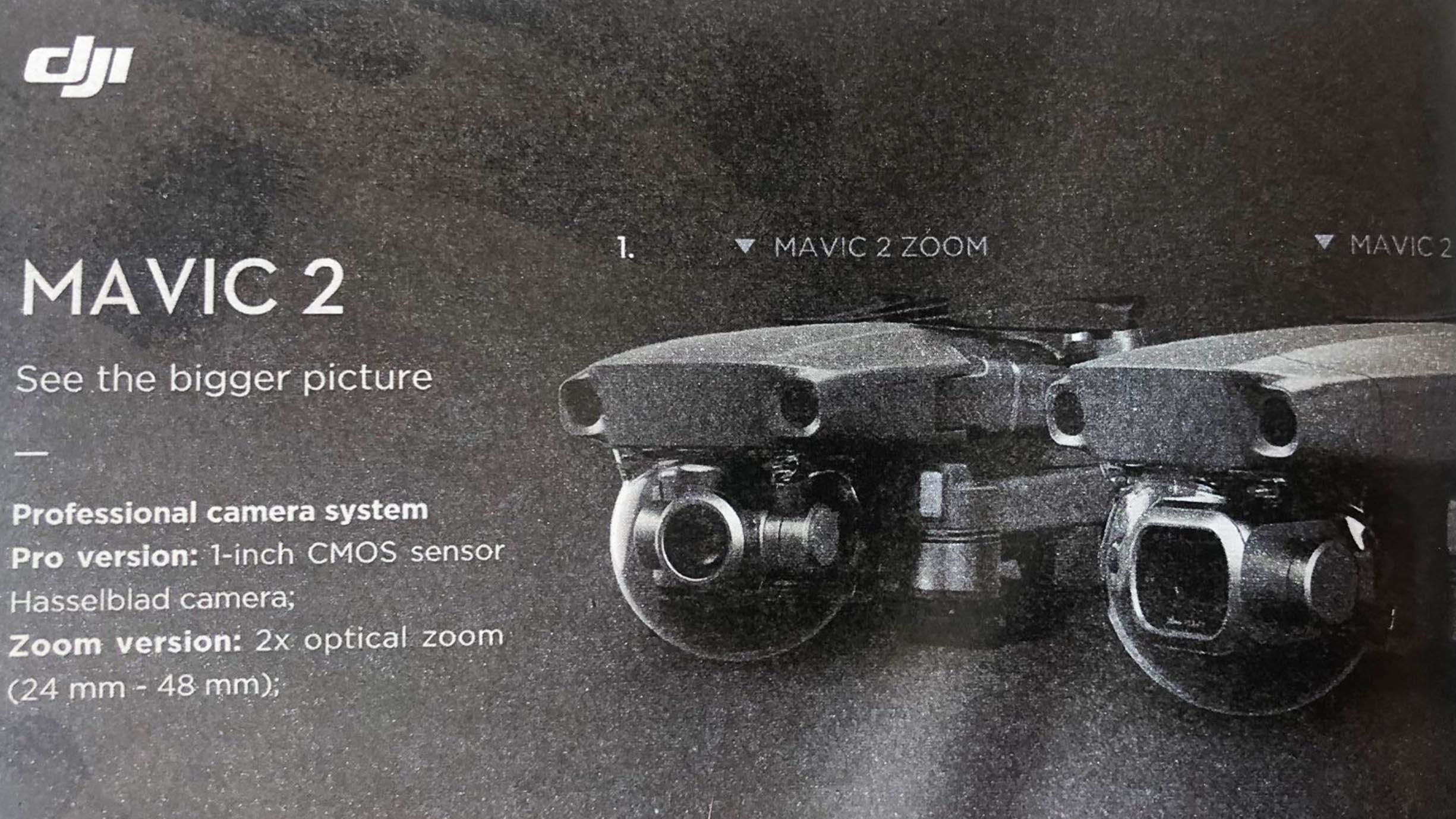 DJI Mavicの新製品情報 - 2モデルが存在する?