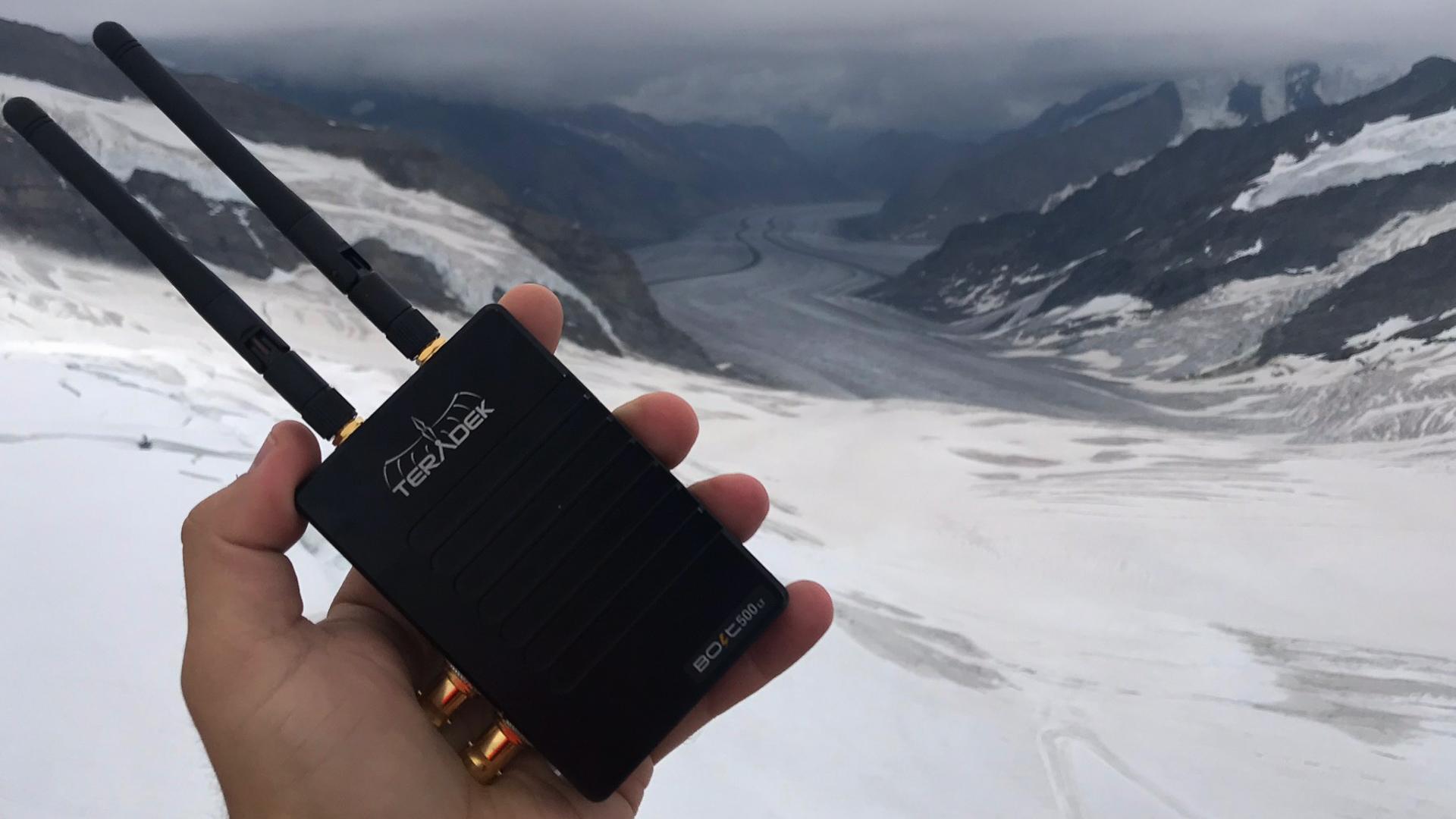 3,350mの高所でTeradekワイヤレスシステムを使う
