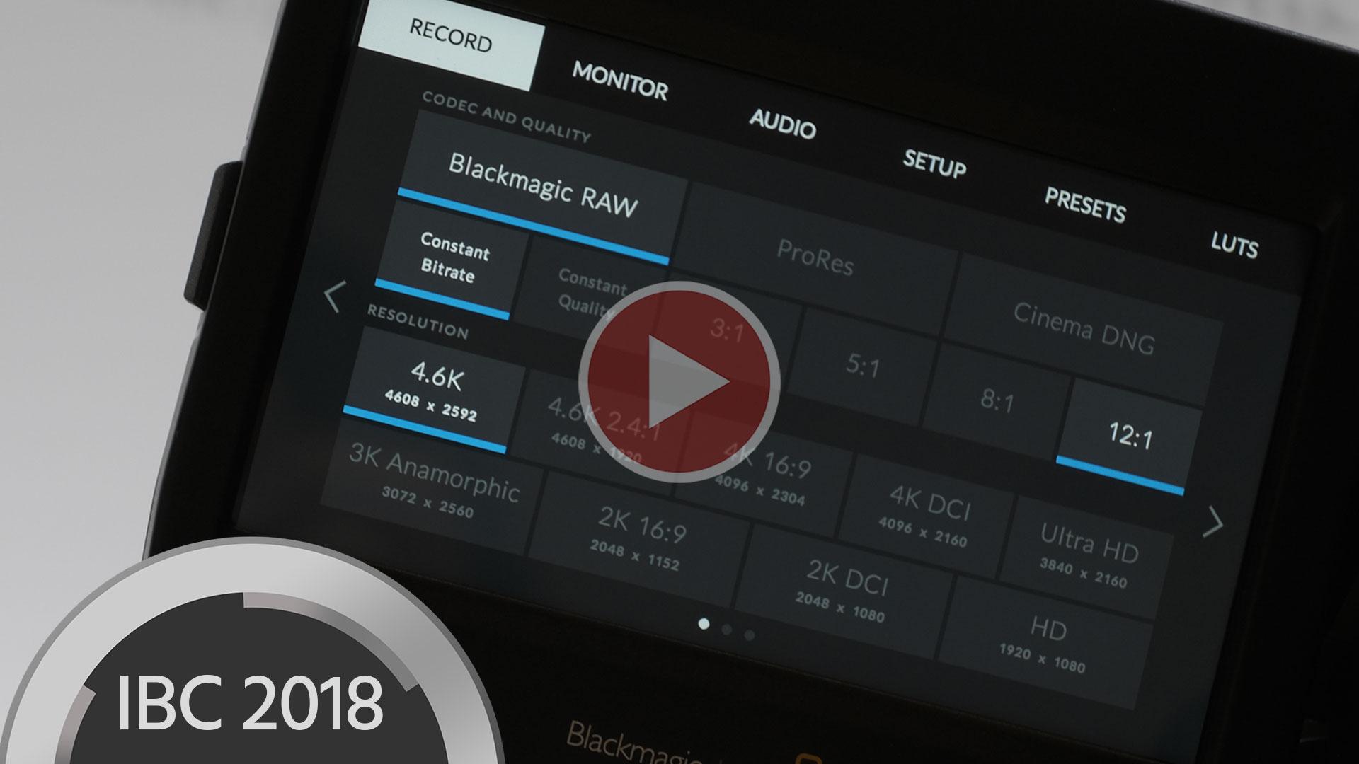 ブラックマジックデザインがBlackmagic RAW発表―無償アップデート、12ビット圧縮RAWでカメラ内記録が可能