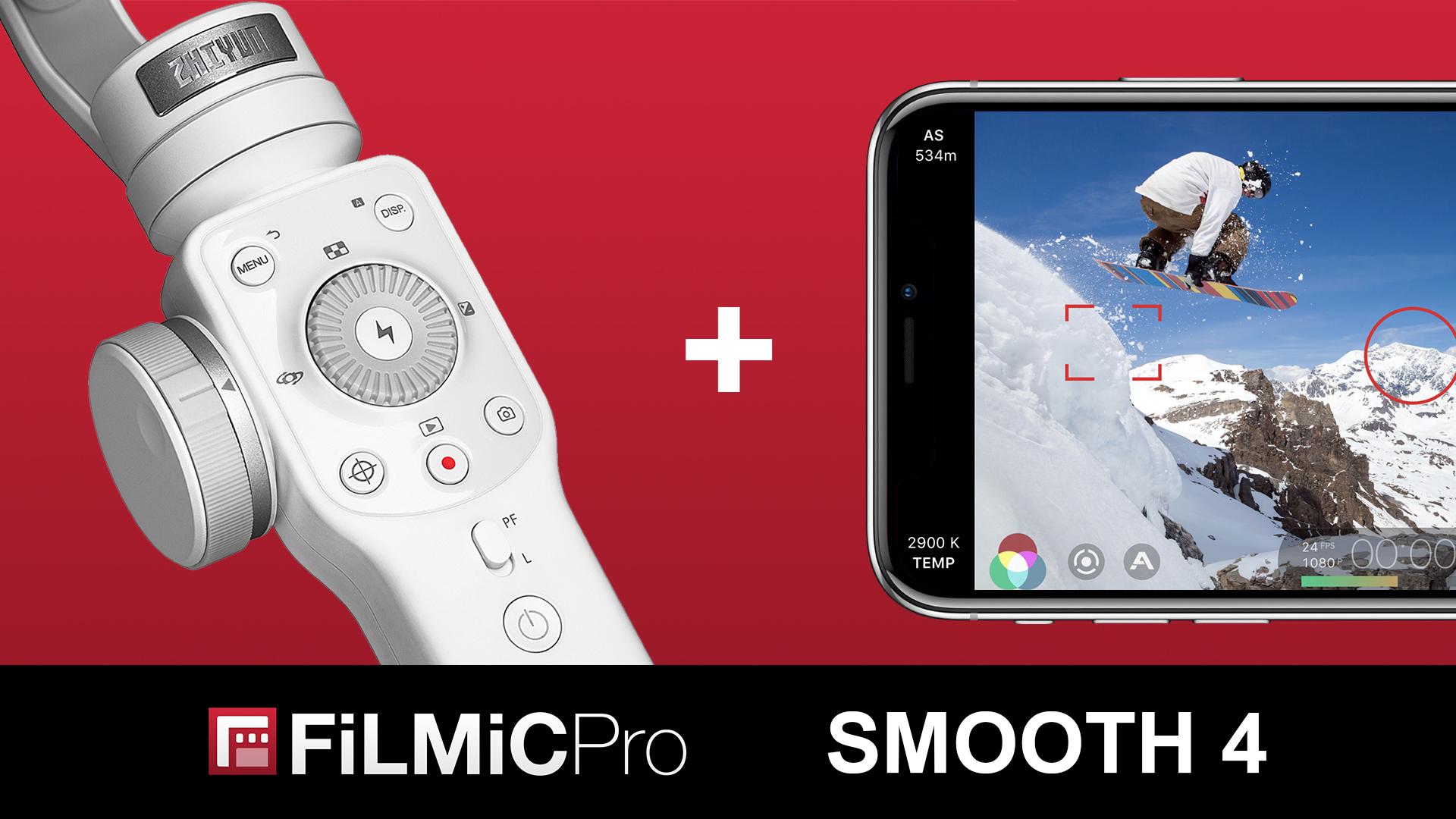 Zhiyun Smooth 4からFiLMiC Proをコントロール - タッチパネルにはない直感的な操作が可能