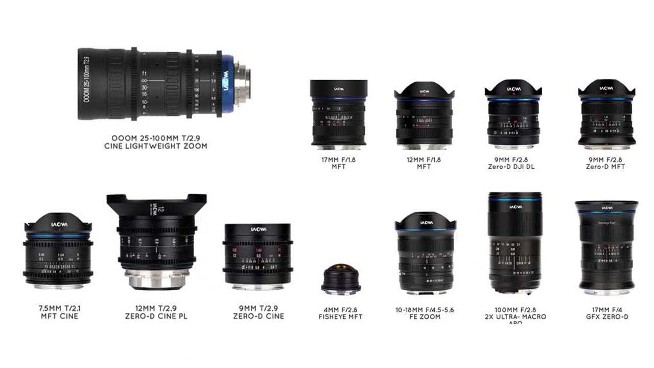 Laowaがシネズームを含む8本の新レンズを発表