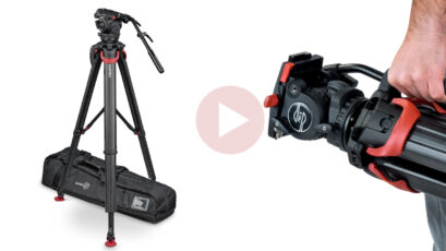 Sachtler and Vinten Flowtech 100 Tripod System for Payloads Up To 30kg Launched