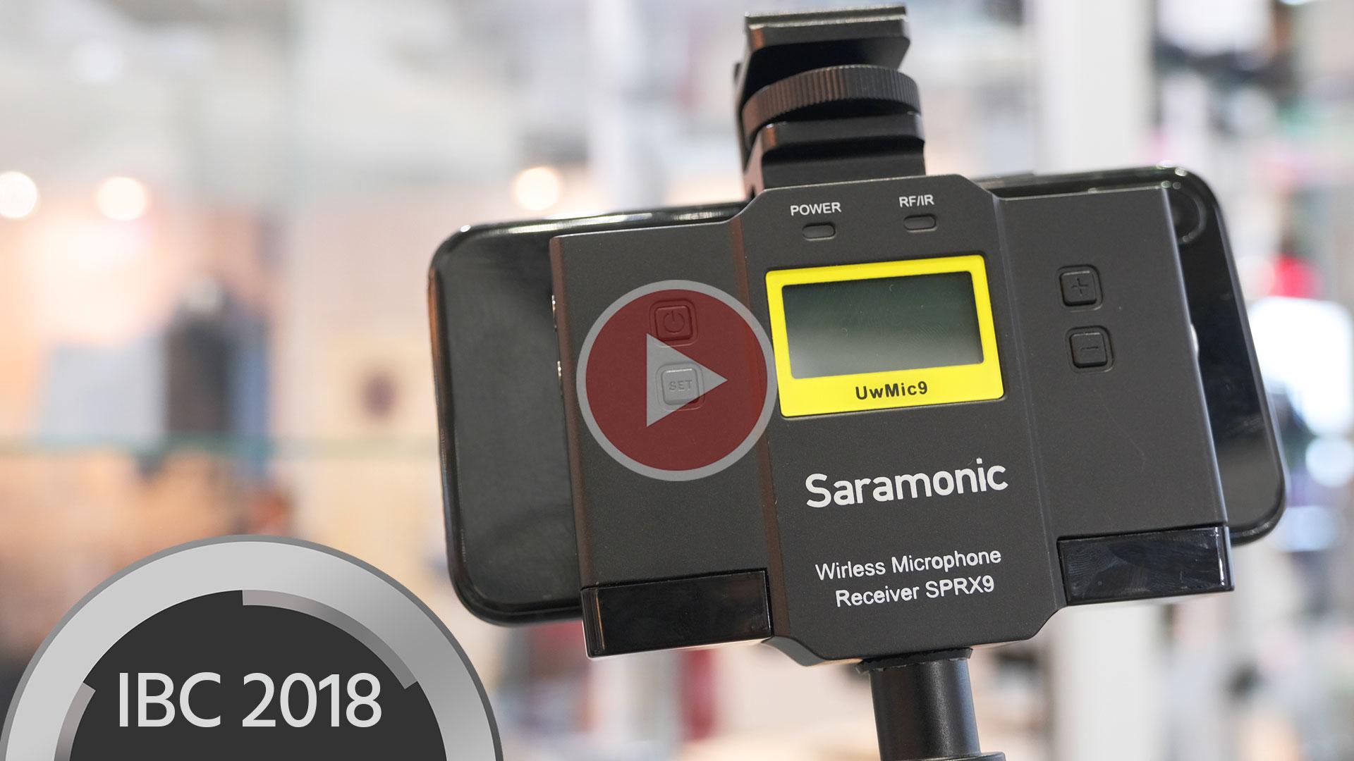 SaramonicがSPRX9ワイヤレスマイクロフォンレシーバー/ミキサーを発表 - スマートフォン用ワイヤレスオーディオ