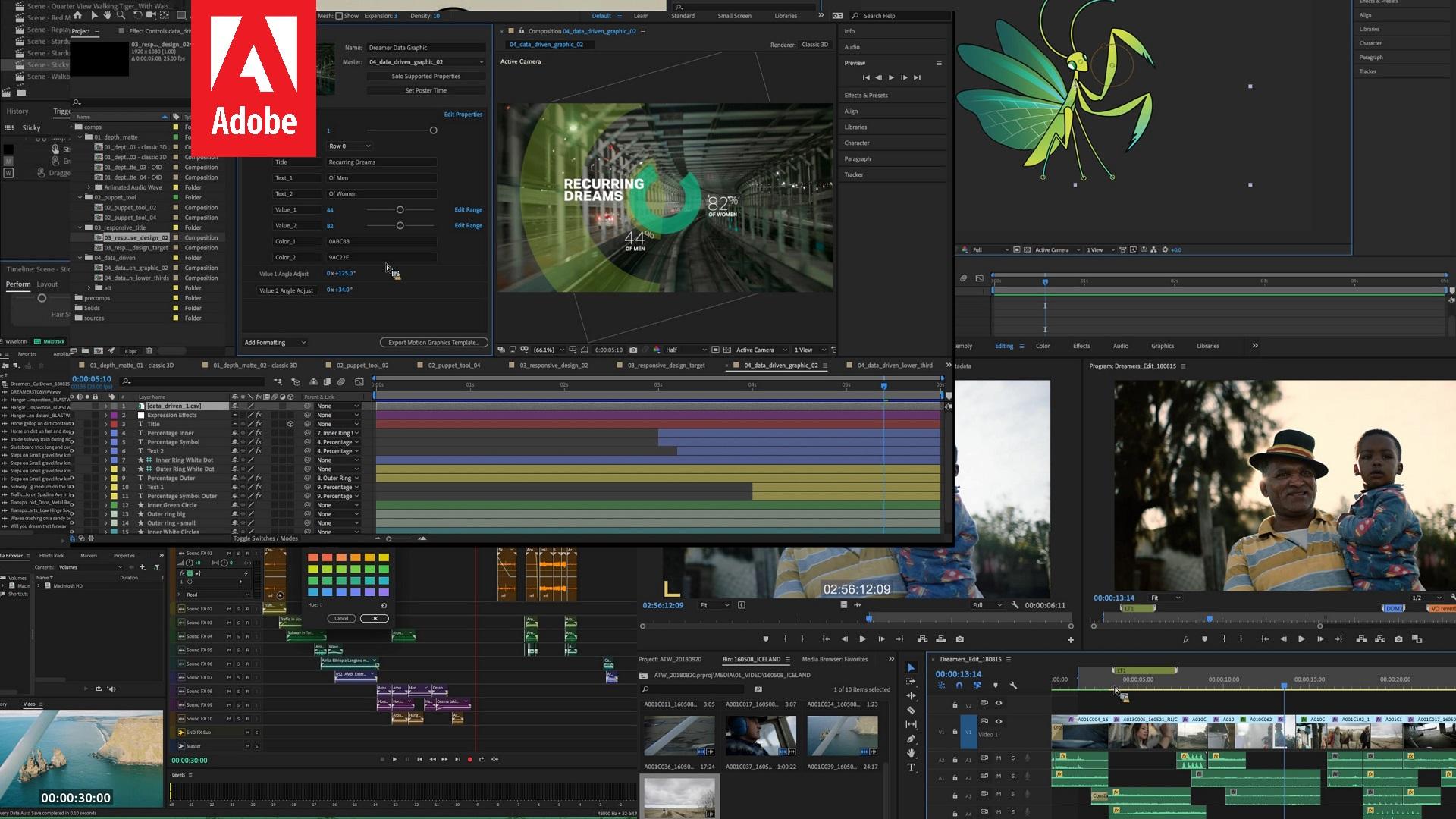 Próximas Actualizaciones de Adobe Creative Cloud Para Premiere Pro, After Effects y Más