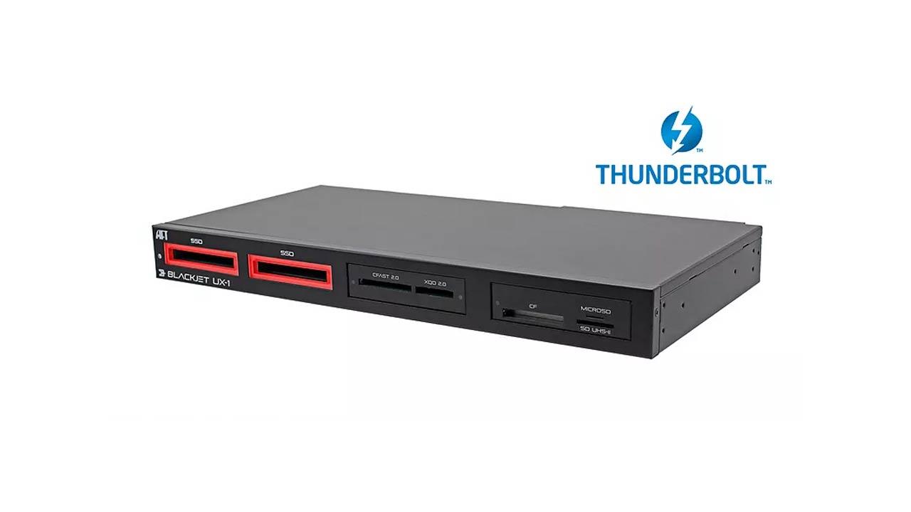 Blackjet UX-1 Cinema Dock – edición e ingestión a 2750 MB/s con Thunderbolt 3