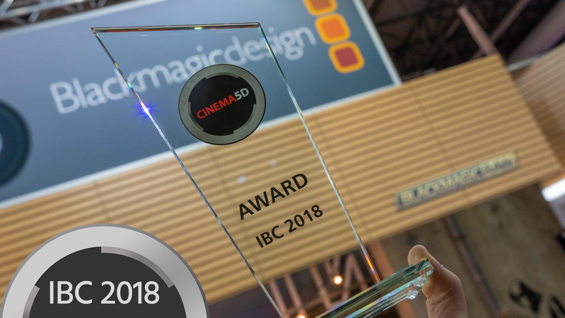 Blackmagic RAW gana el Premio a la Innovación Tecnológica de cinema5D en la IBC 2018