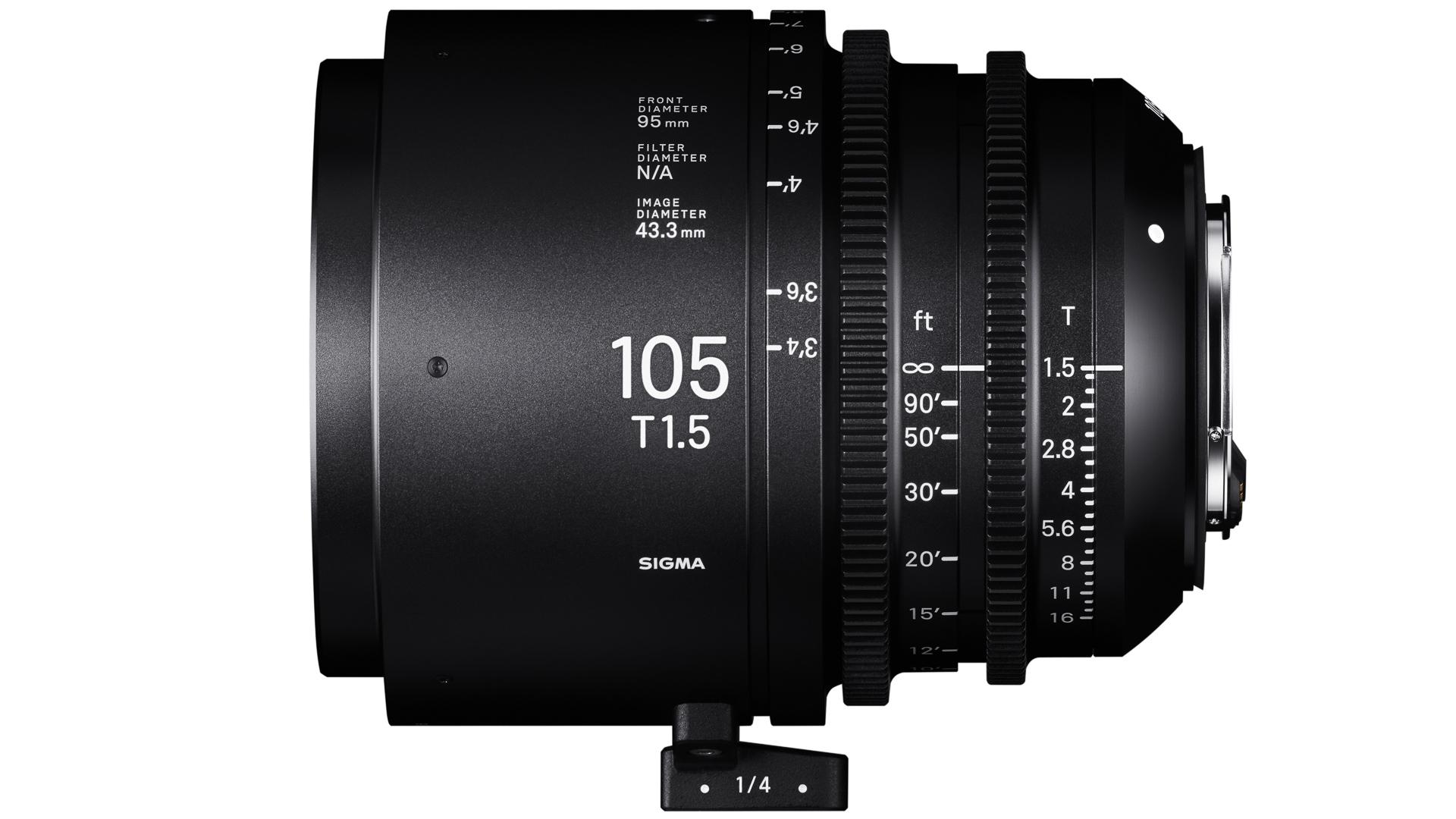 シグマが28mm, 40mm、105mmシネレンズを発表